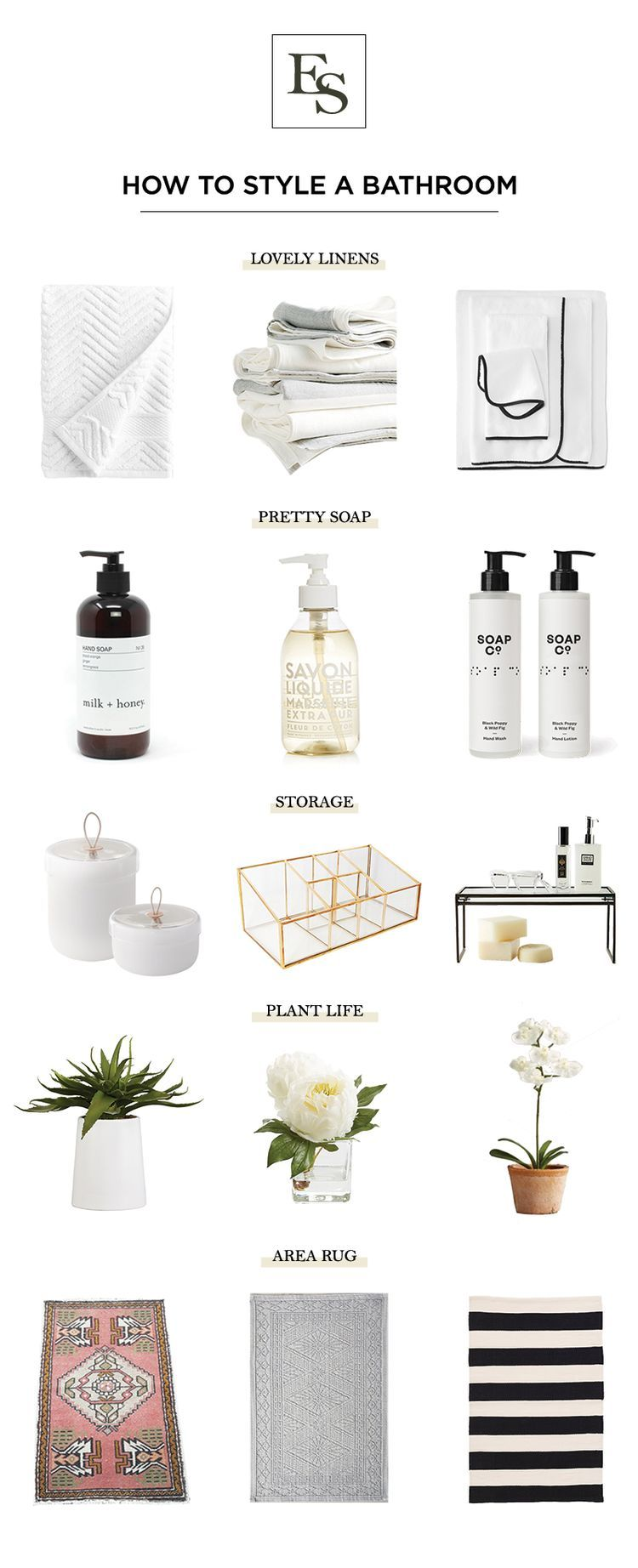 How to Style a Bathroom The Elizabeth Street Post A Lifestyle Blog