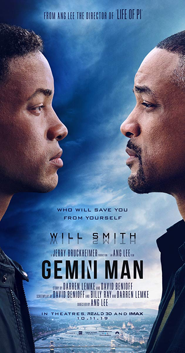 Directed By Ang Lee With Will Smith Mary Elizabeth Winstead Clive Owen Benedict Wong An Over The Hill Hitman Faces Off Against A Gemini Man Gemini Ang Lee