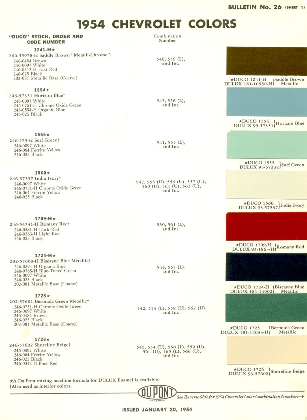 Colors For 54 Party Color Car Model Ford Models
