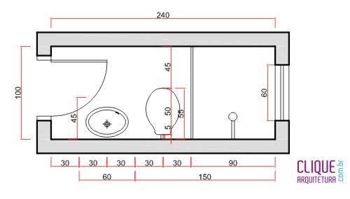 Resultado de imagem para projetos banheiros pequenos for Medidas bano pequeno