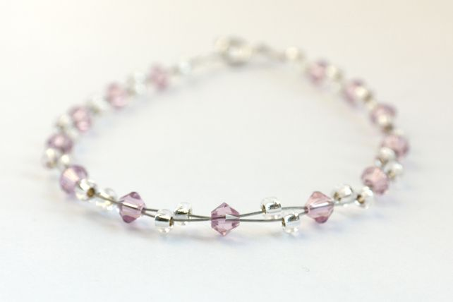 amethyst and silver multi Strand Bracelet £8.00