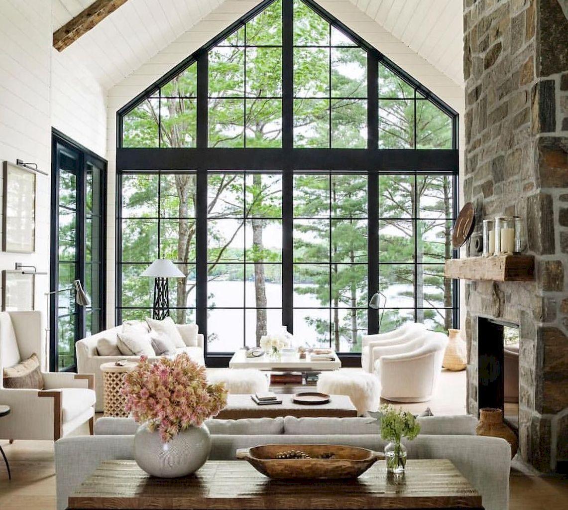 Gorgeous 55 Fresh Lake House Living Room