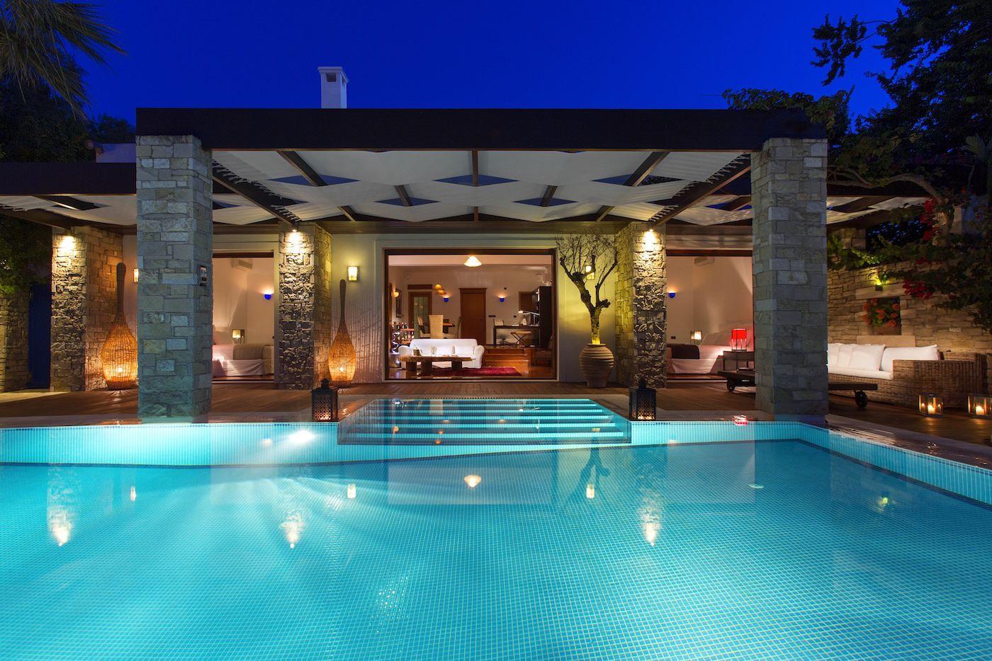 Porto Zante Greece Luxury Villas private heated pool beachfront with spa