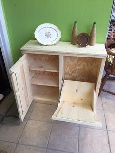image result for rustic tilt out trash bin with shelf for the home rh pinterest com
