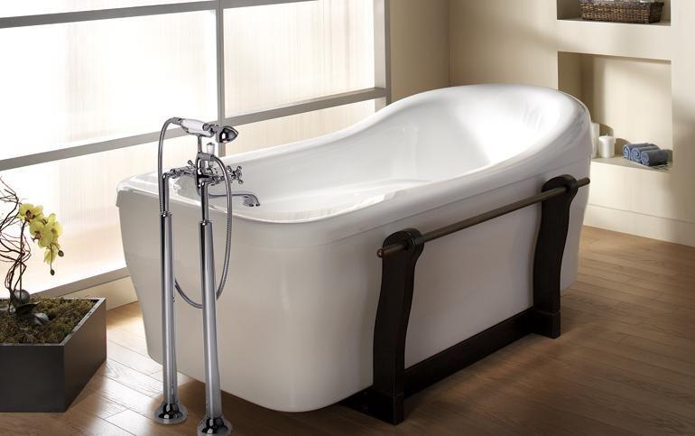 Oceania Myriad 72 Rectangular Freestanding Bathtub Free
