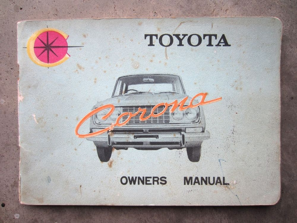TOYOTA CORONA SEDAN 1965 Car Auto Owners User Operation Manual - operation manual