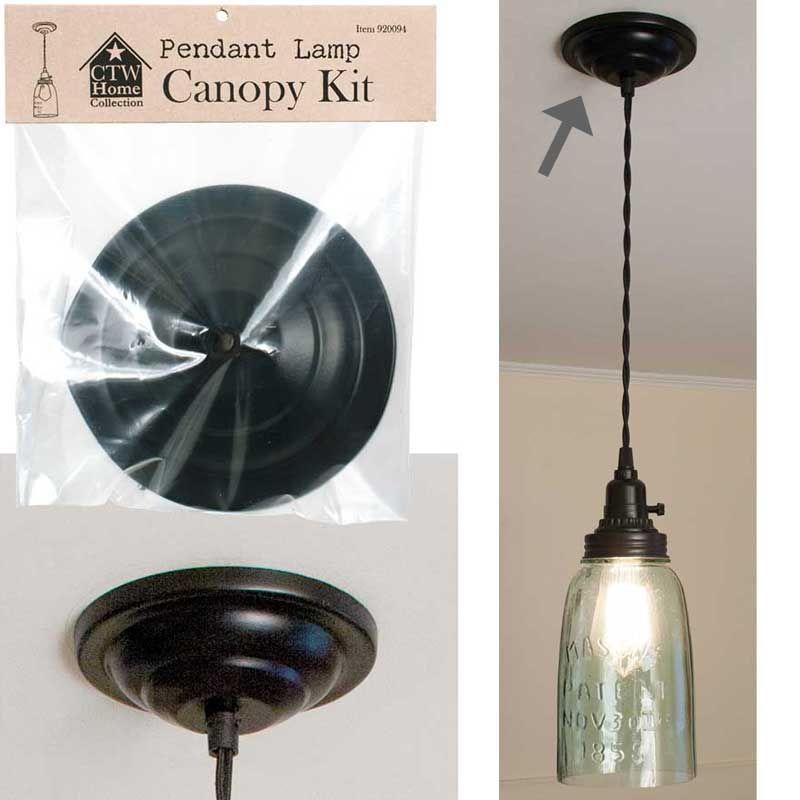 Pendant Lamp Canopy Kit 5 Diameter Pendant Lamp Mason Jar
