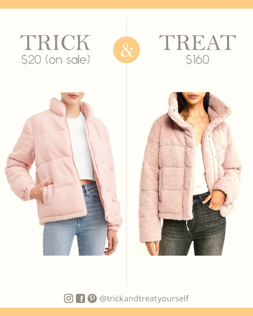 Abercrombie Sherpa Puffer Jacket Dupe Puffer Jackets Clothes Jackets [ 1080 x 864 Pixel ]