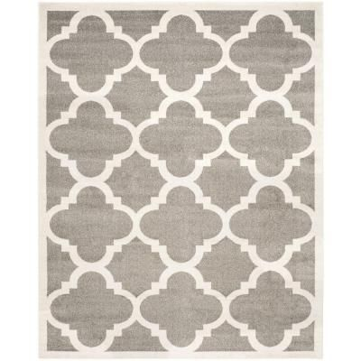 Safavieh Amherst Dark Gray Beige 9 Ft X 12 Ft Area Rug Amt423r 9 Patio Rugs Indoor Outdoor Area Rugs Area Rugs
