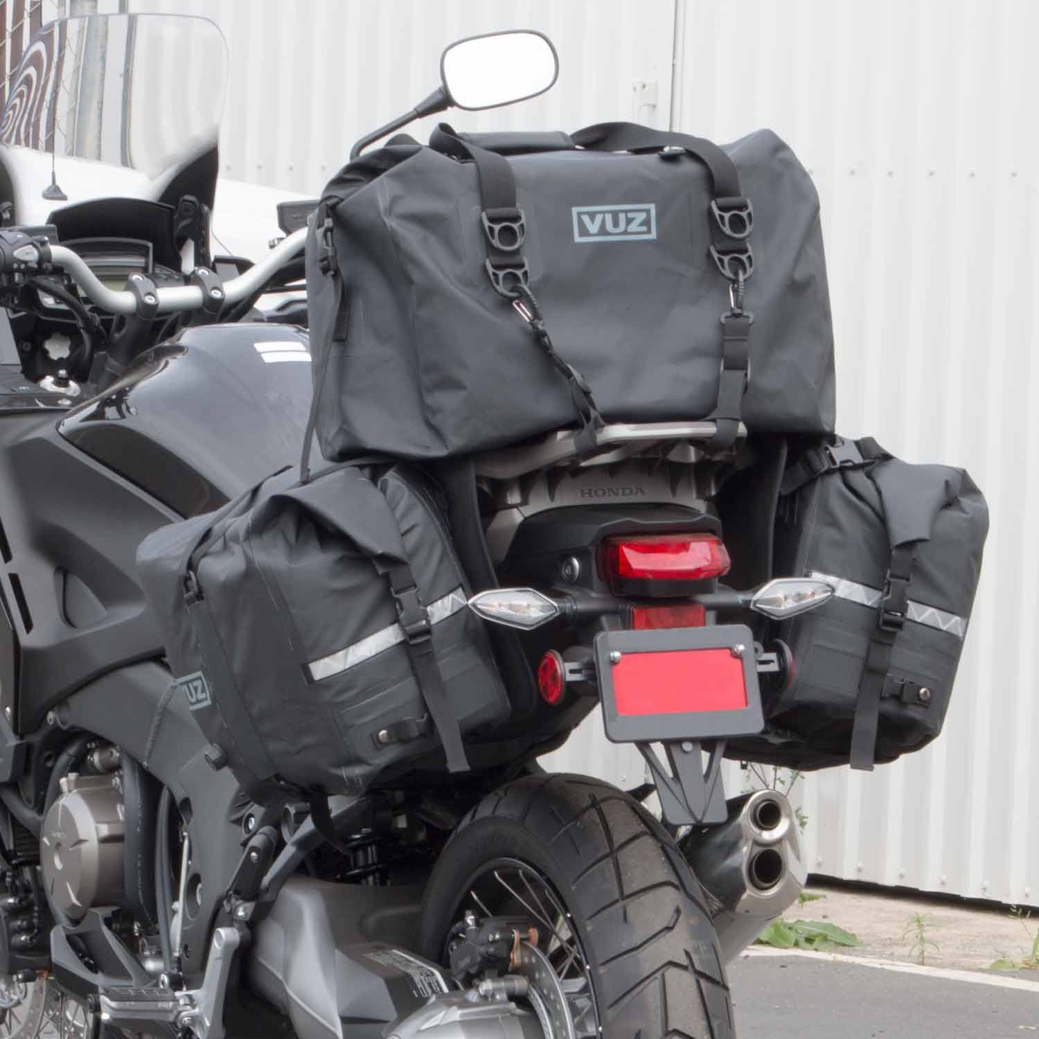 The Two Best Friends The Vuz Dry Saddlebags Are Perfect For Any Riding Condition And Attach To Various Bike Type Bike Saddle Bags Motorcycle Luggage Saddlebags