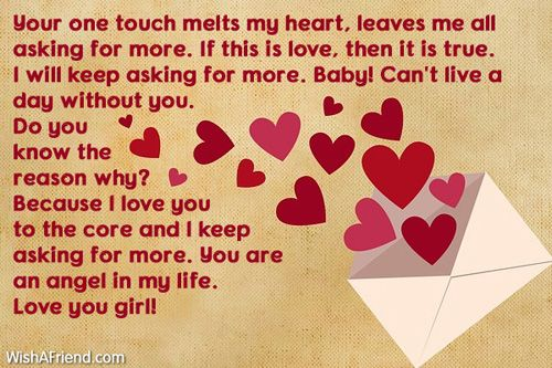 Your One Touch Melts My  Love Letters For Her