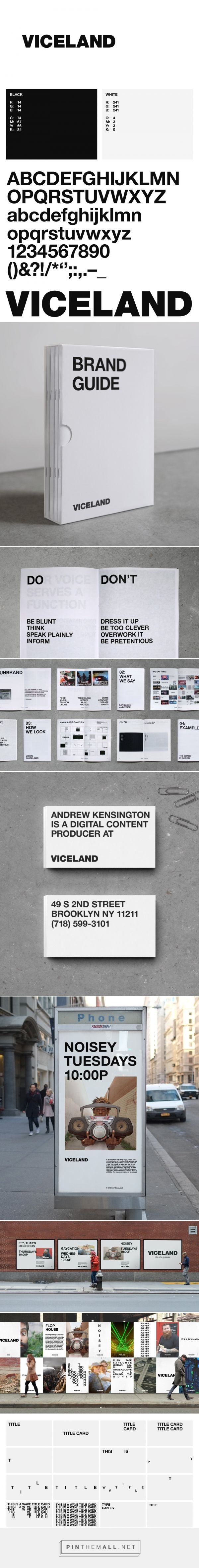 Brand New: New Logo, Identity, and On-Air Package for Viceland by Gretel... - a grouped images picture - Pin Them All