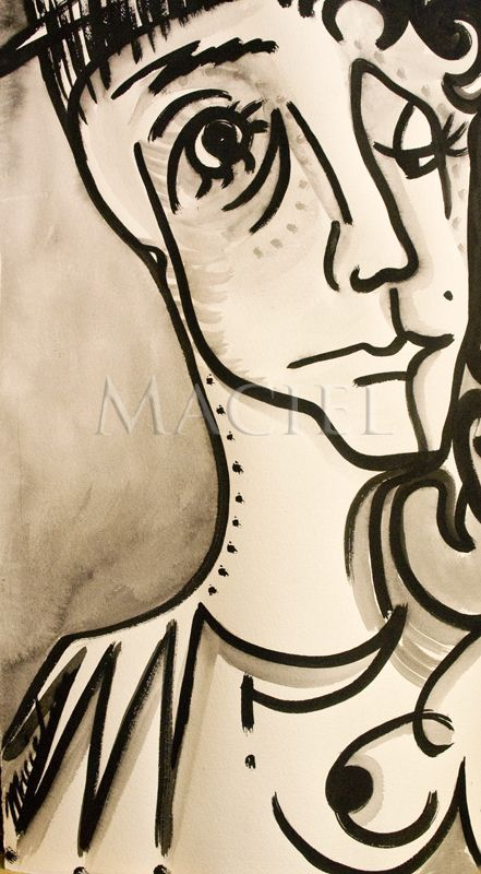 Ink drawing by Maria Maciel