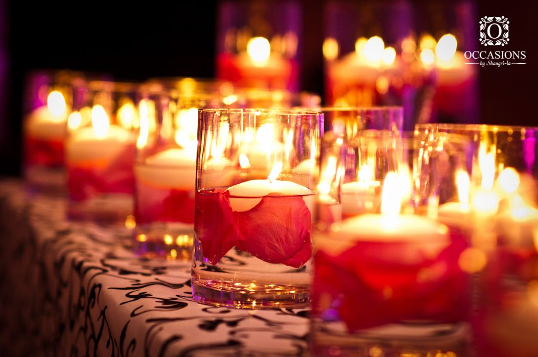 Wedding tables candle river candle river