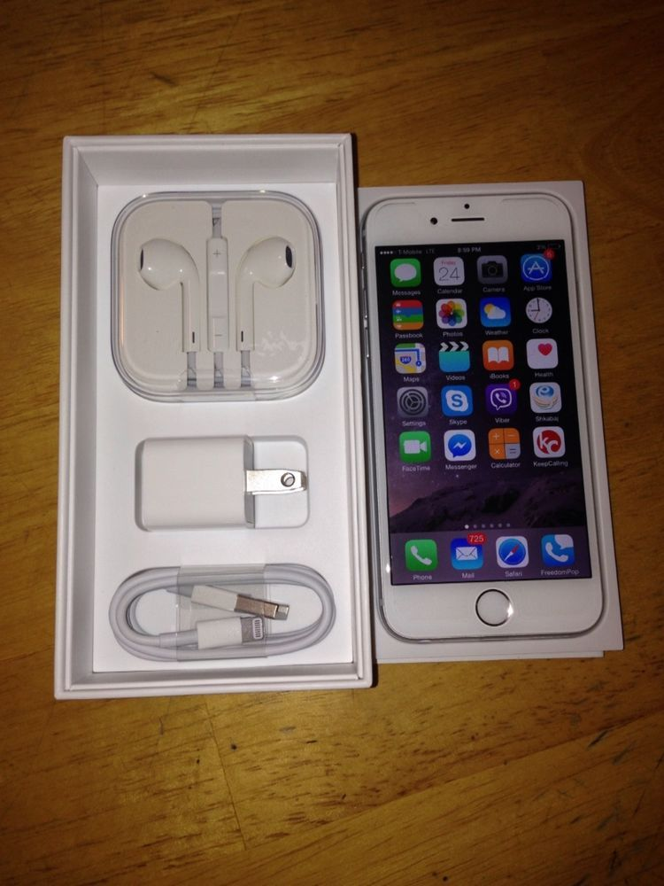Apple iphone 6 plus 64gb silver unlocked tmobile