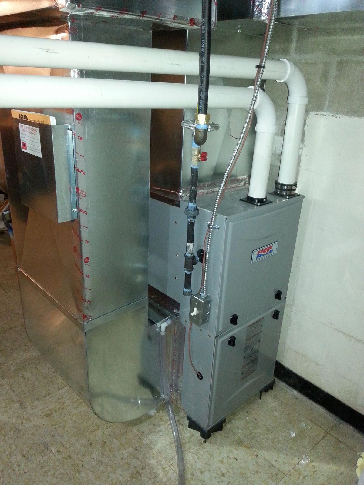 Residential Furnace Install The House That We Installed This Furnace In Had Electric Heat We Put A Gas Furnace A Furnace Installation Heating Repair Furnace