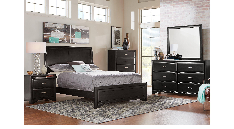 belcourt black 5 pc queen sleigh bedroom apartment 2018 rh pinterest com