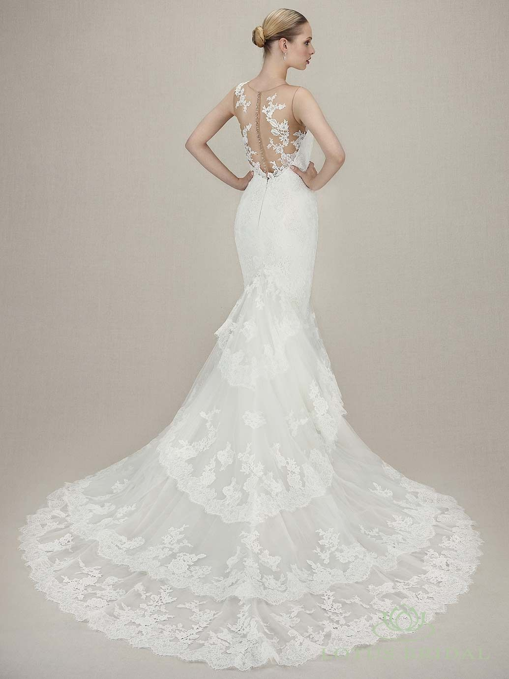 Lotus bridal enzoani kasia i like this silhouette and lace back