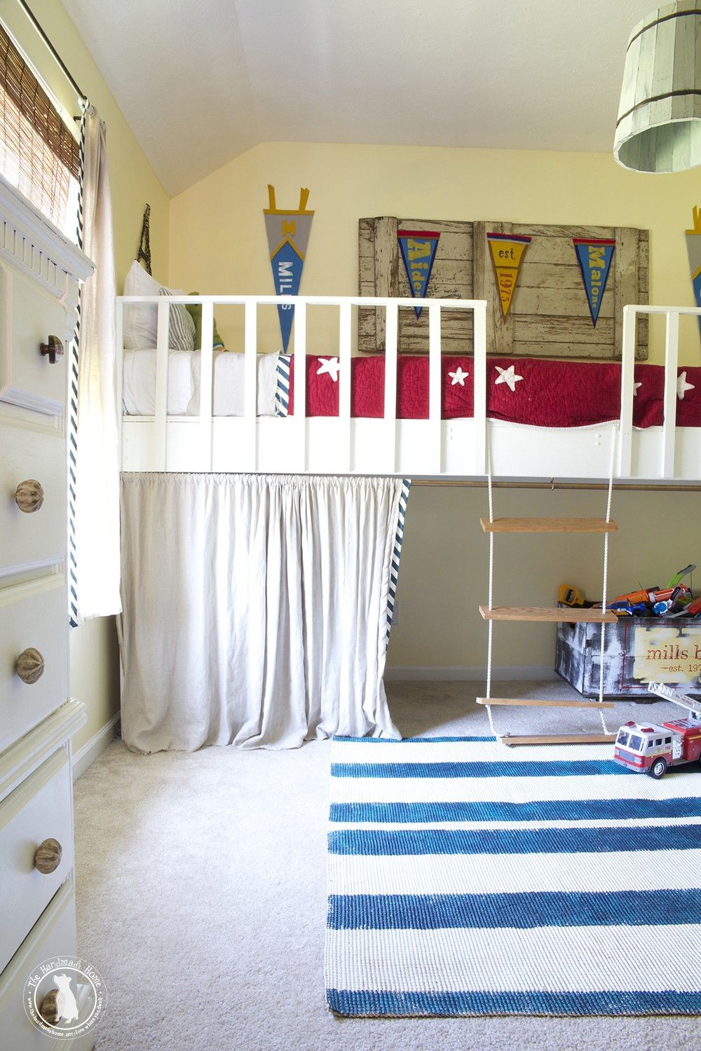 Room Boys Shared Bedroom Big Bunkbed Room