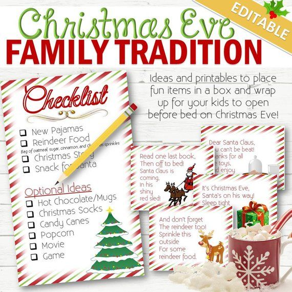 EDITABLE Christmas Eve Surprise Box- INSTANT DOWNLOAD Christmas