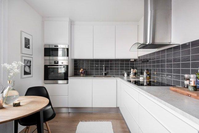 Un Duplex Inverse Planete Deco A Homes World Style Cuisine Cuisine Gris Maison