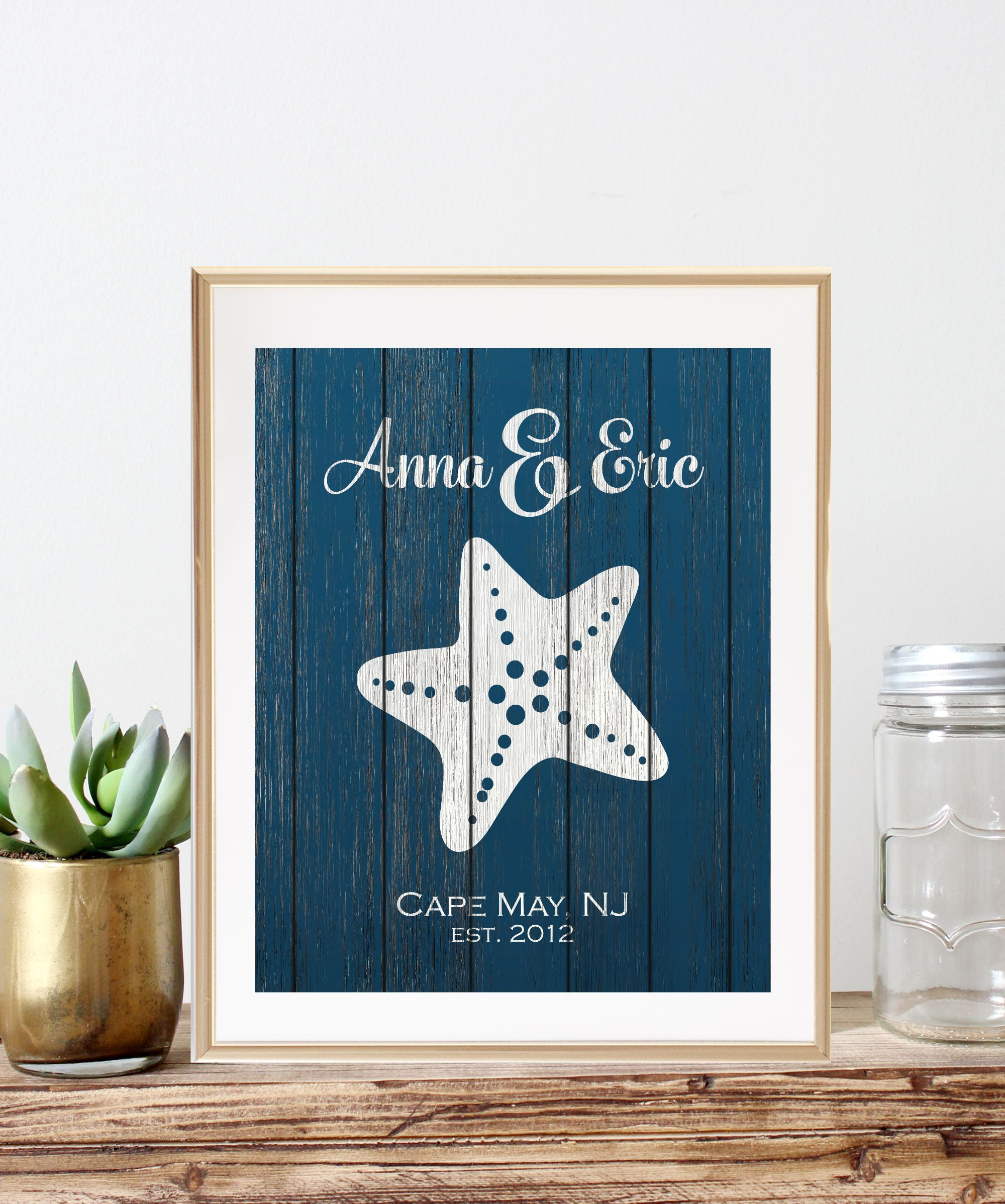 Starfish Wedding Gift Art Print makes a