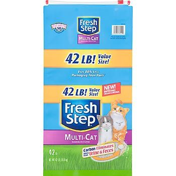 Fresh Step Premium Scoopable Clumping Cat Litter Multiple