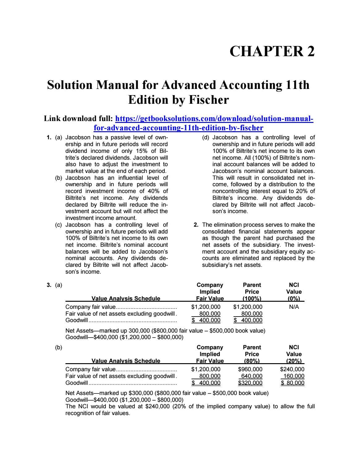 Explore these ideas and more! Solution manual for advanced accounting 11th  edition ...