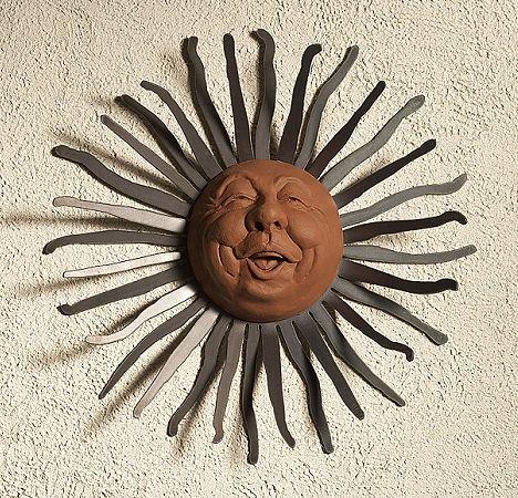Outdoor Sun Wall Art sun - happy - wall hang garden art | neat things! | pinterest