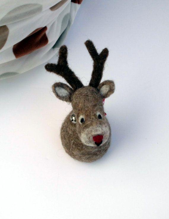 woodland christmas decoration felted moose christmas by mirtilio - moose christmas decorations