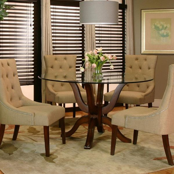 Sonnet 5 Piece Dining Set Adams Furniture Glass Round Dining Table Dining Room Sets Wooden Dining Tables