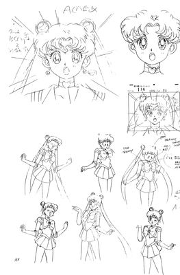 Sailor Moon storyboard