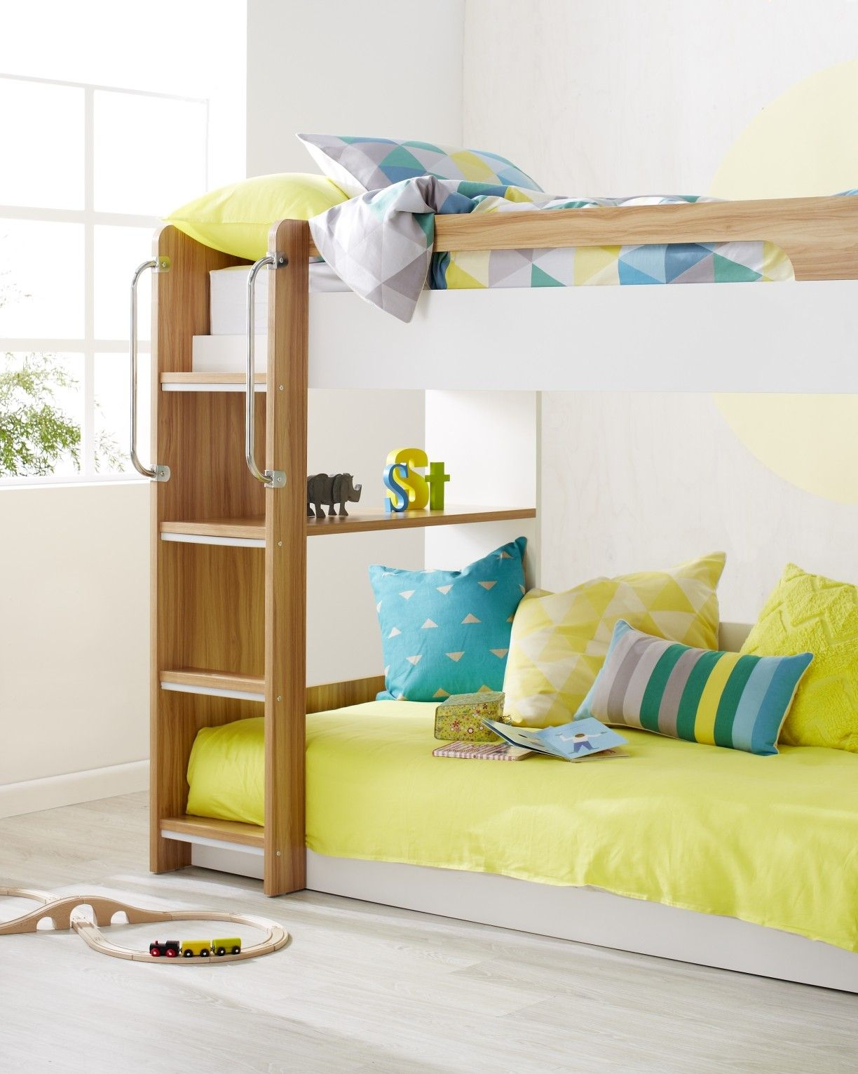 Mercury Bunk - $999 from forty winks. I like the sense of openness with this bunk. It is higher but would allow more room for bottom sleeper. Also love the built in shelves.