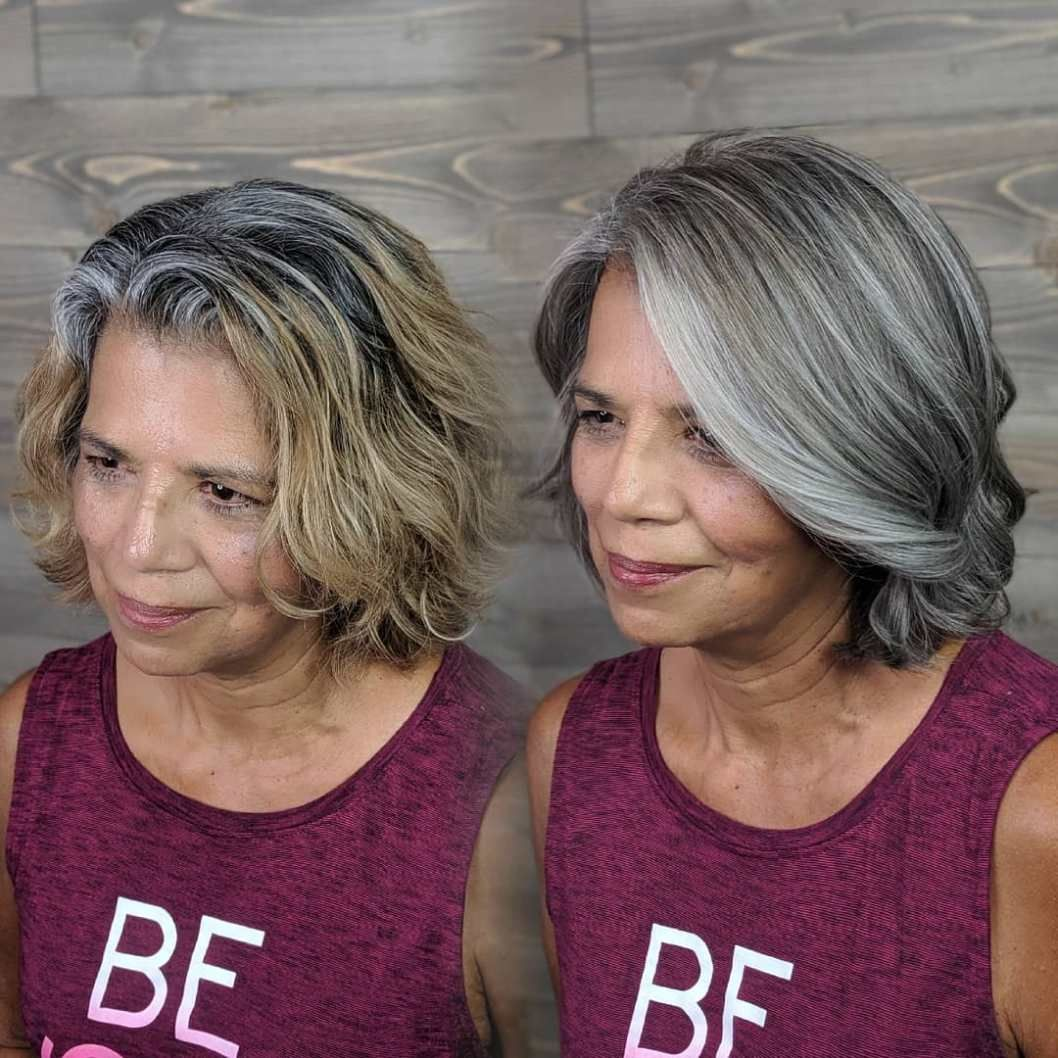 Hair Color To Blend Gray
