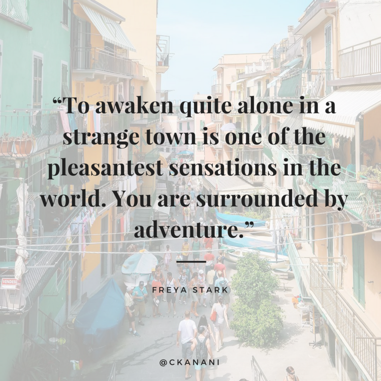 """To awaken quite alone in a strange town is one of the pleasantest sensations in the world."" quote 