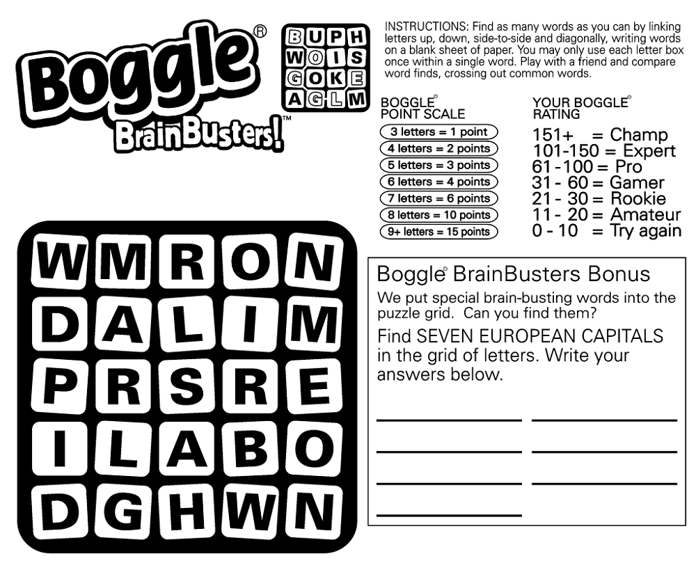Boggle Word Game Free K5 Worksheets Educative Puzzle For Kids
