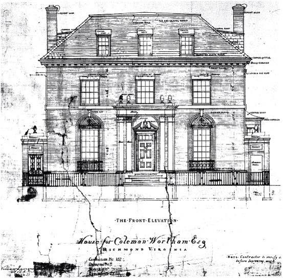 Richmond Architects: Coleman Wortham House, 2301 Monument Avenue, Richmond