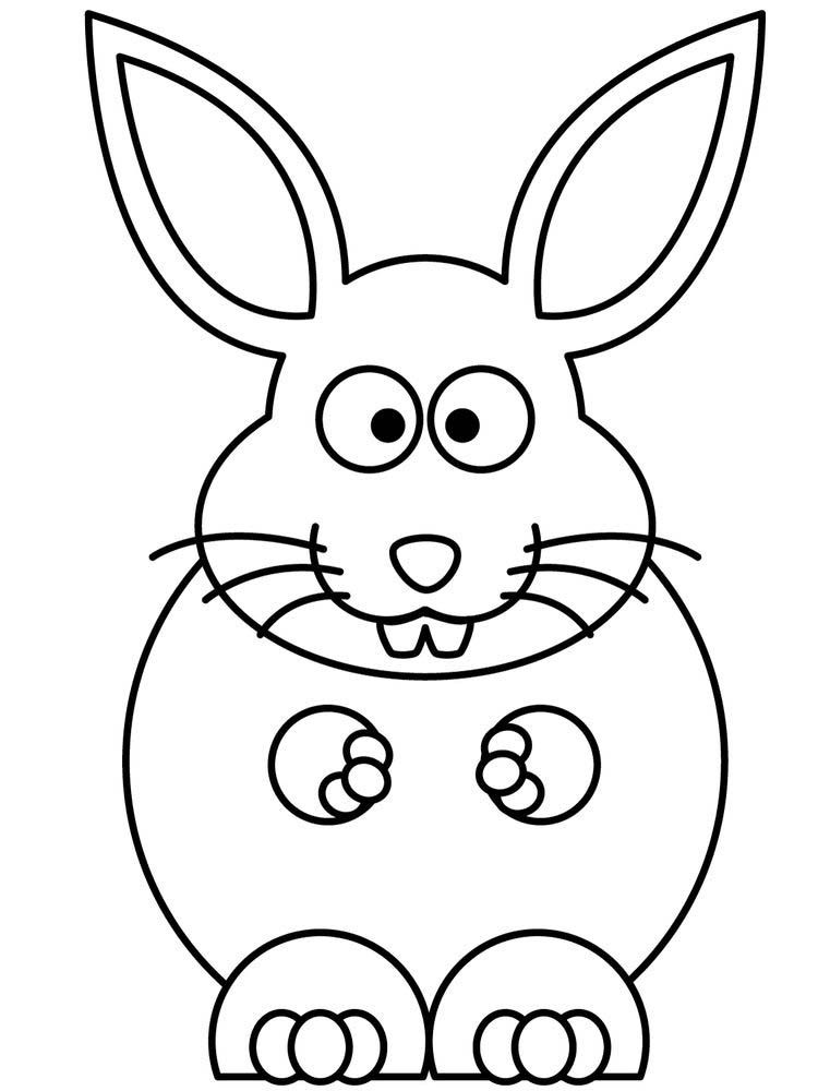Rabbit Coloring Pages Pdf Rabbits Are Small Mammals With Short Smooth Distinctive Mustaches With Long Ears There Are More Than 30 Species Throughout The Wor
