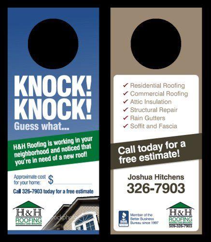 21 Hh Roofing Spokane Doorhanger Jpg 437 500 Roofing Gutter Repair Commercial Roofing