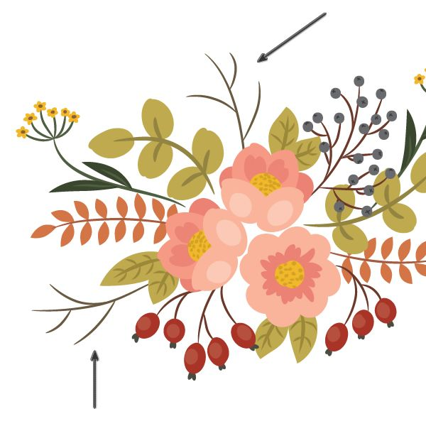 How To Create A Vintage Floral Arrangement Painting In Adobe