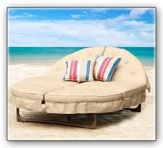 An Orbit Lounger On Beach   This Double Chaise Lounge Is Awesome Outdoor  Patio Furniture, And You Can Even Get Replacement Cushions.