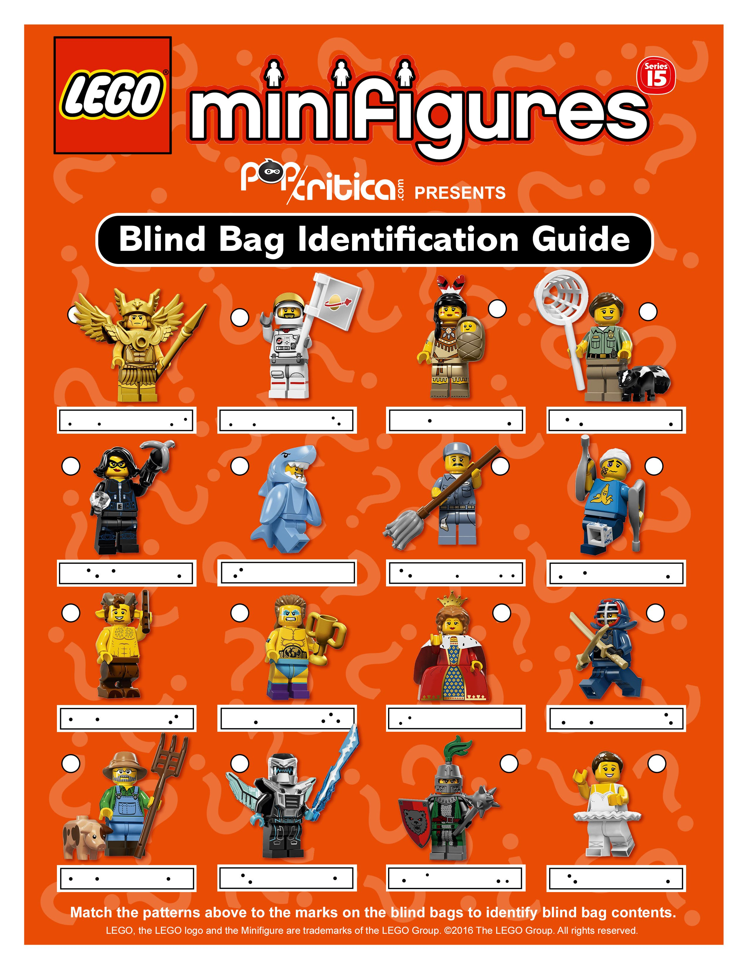 Lego Series 15 Minifigure Bump Code Guide Full Page Jpg 2 550 3 300 Pixels