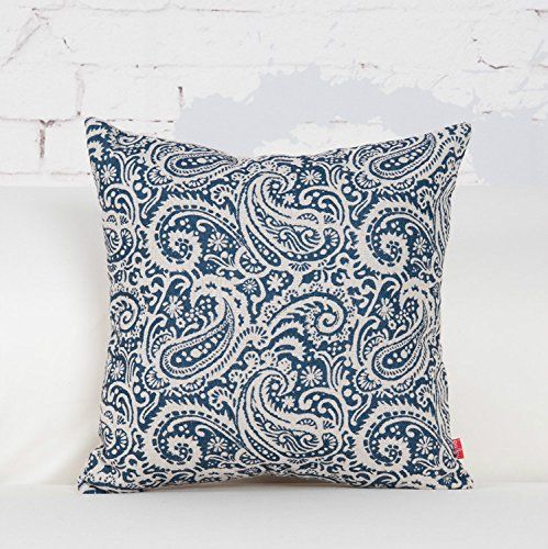 Amazon.com: Baibu Decorative Throw Pillow Cover Paisley Cushion Cover For  Sofa,18x18