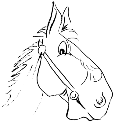 Step 6 drawing cartoon horses with simple step by step lesson