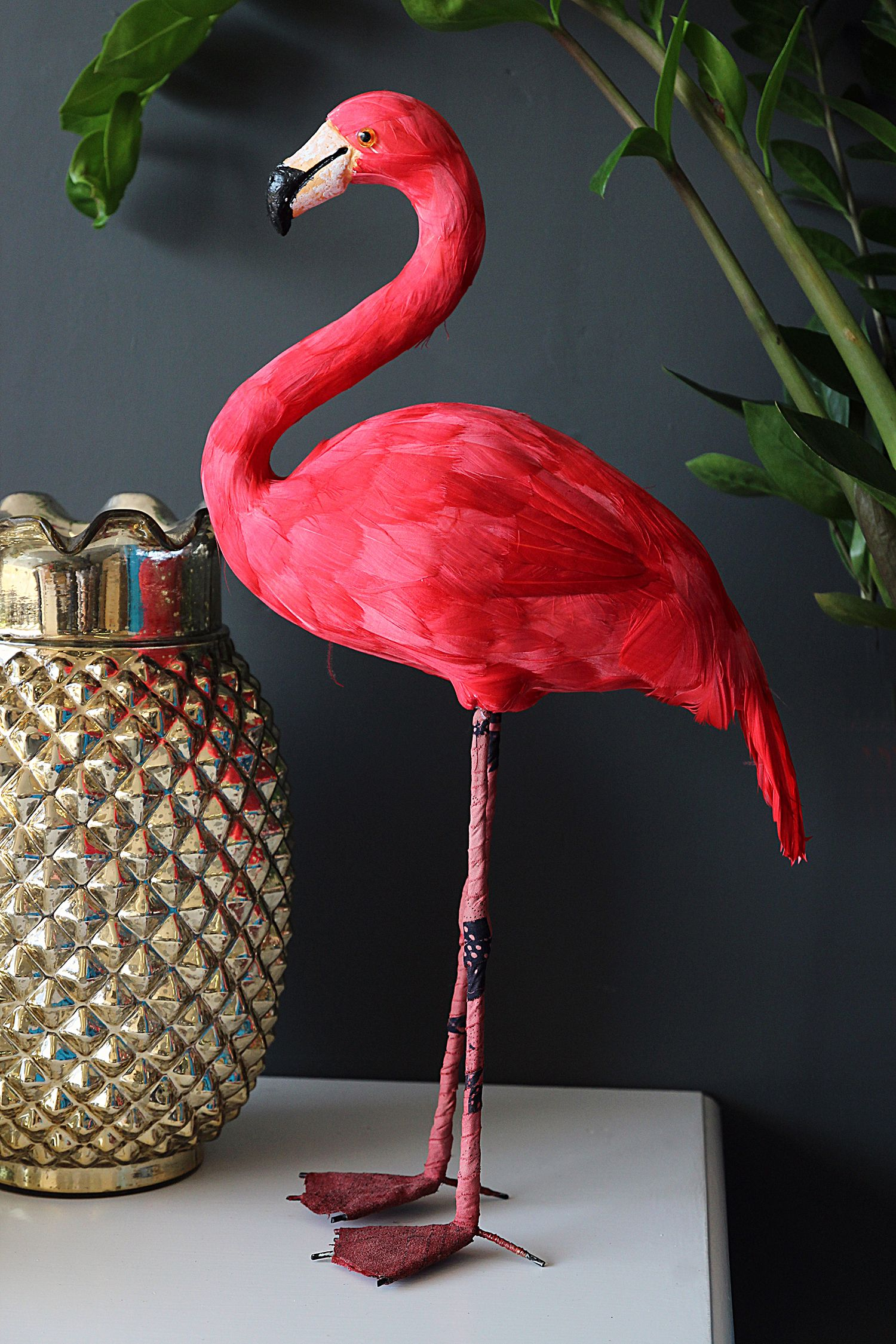 Flamingo garden ornament - Lifestyle Shot 4 Domingo The Fabulous Flamingo Artificial Bird 49 Rockett St George