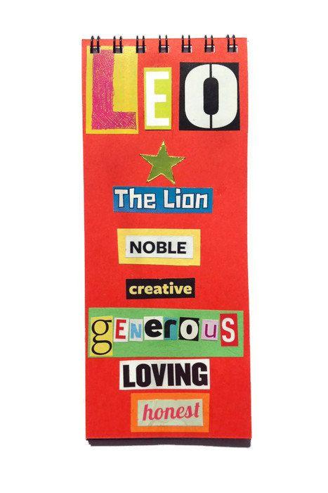 LEO Notebook Star Sign Gift Unique Zodiac Book In By FuNkTjUnK
