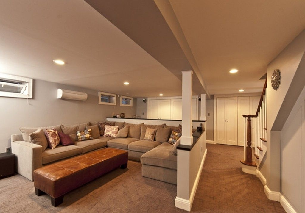 Simple Entertainment Areas For Practical Family Room Basement