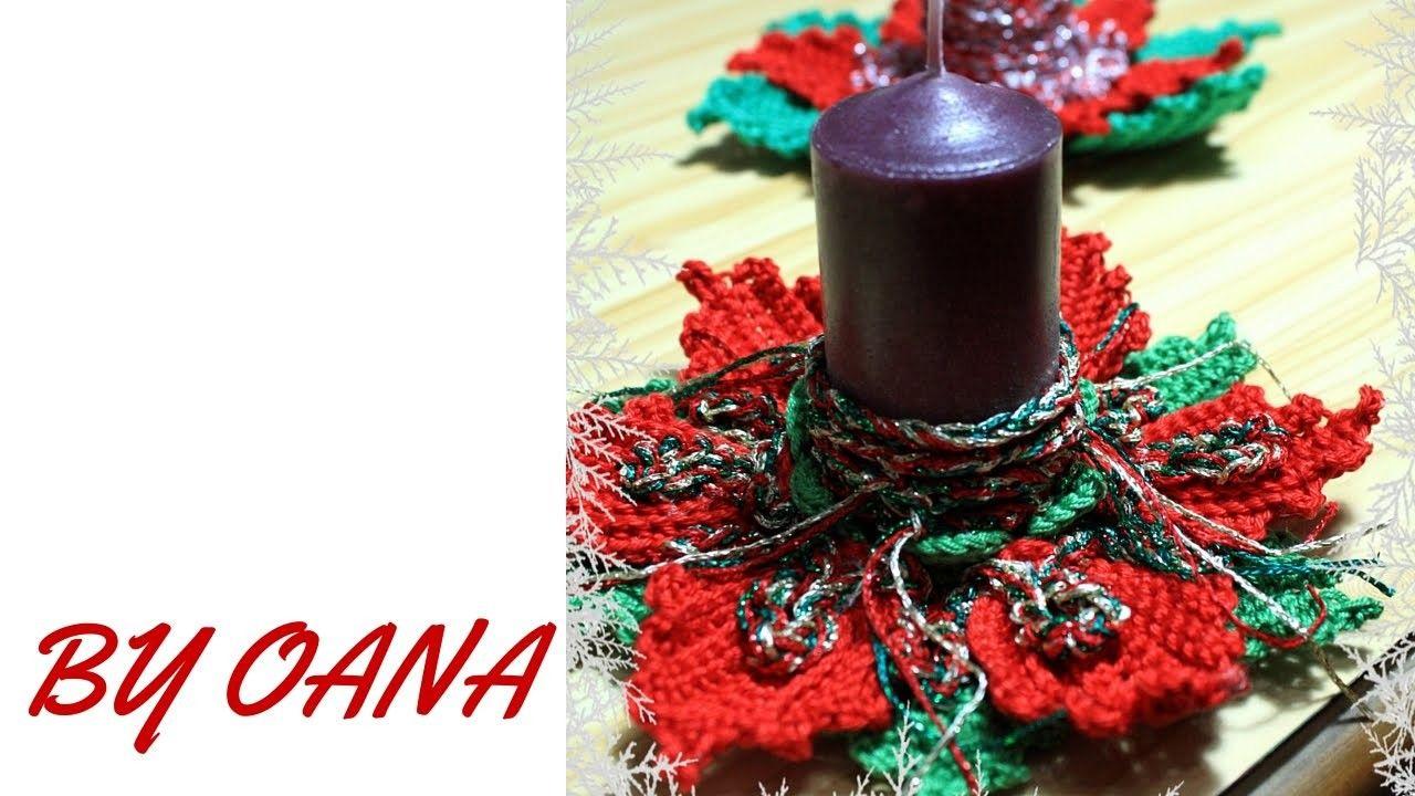 Crochet Christmas candle decoration