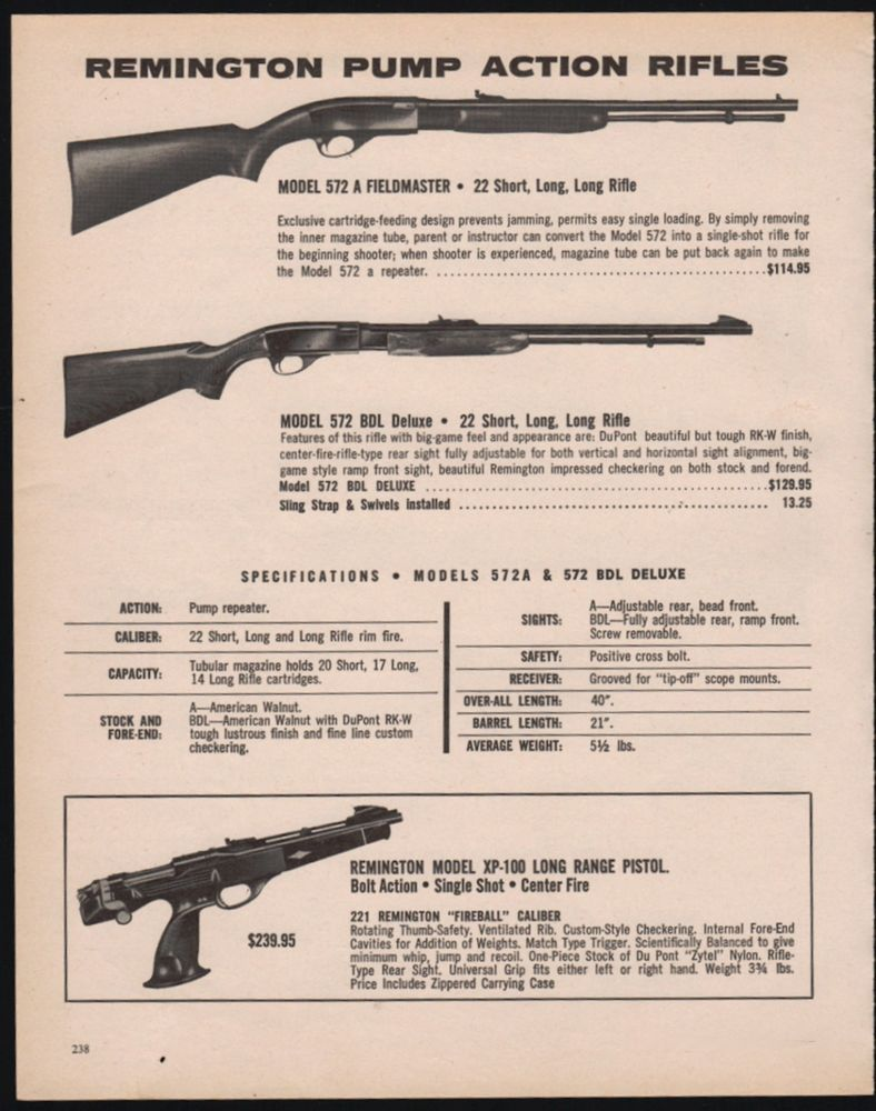 remington 572 pump 22 rifle