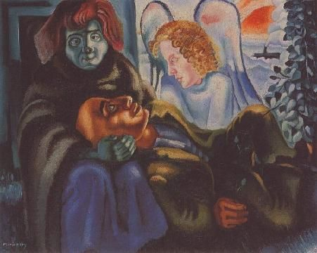 Page: The Poet and the Angel Artist: Mario Eloy Completion Date: 1938 Style: Expressionism